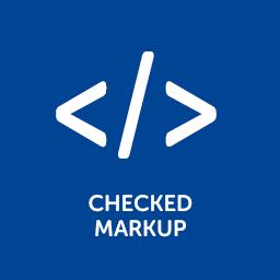 Geprüftes HTML Markup